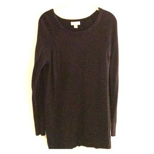 Loft Scoop Neck Black Sweater
